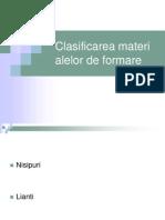 Clasificarea Materialelor de Formare