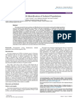 Action Protocols in Dna Identification of Isolated Populations 2157 7145.1000218