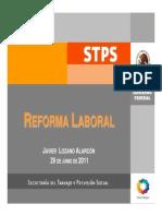 Reforma Laboral, Comparativo a Junio 2011