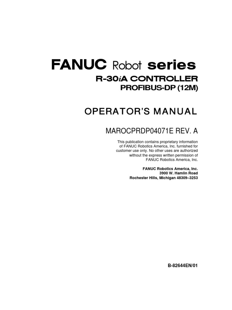 fanuc profibus manual robot technology rh es scribd com fanuc lr mate 200 i manual fanuc lr mate 200 i manual