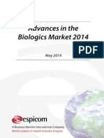 Advances in the Biologics Market 2014 - Sample