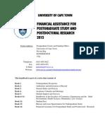 Handbook 14 Postgraduate Funding 2015