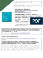 4 Carignan Et All 2006 Multi or Intercultural Education in SA
