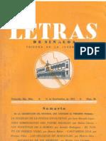 Letras de Sinaloa No. 39 (Septiembre de 1953)