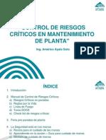Control de Riesgos Críticos en Mantenimiento de Planta