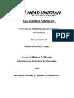 Portifolio de Adm de Sistema de Informação Ppp