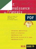 T02.Test de Connaissance Du Francais BELIN 2008