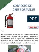 Uso Correcto de Extintores Portatiles