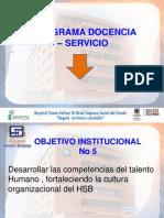 Presentación Programa de Docencia - Servcio
