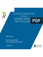 SOURCES OF CLIMATE FINANCE