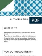 authors bias