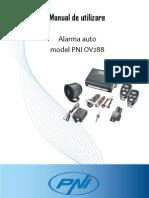 Alarma Auto Cu 2 Telecomenzi de La PNI