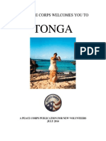 THE PEACE CORPS WELCOMES YOU TO TONGA  July 2014