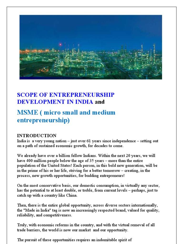 scope of entrepreneurship development Paper prepared for the conference of the international chamber of commerce in orlando, florida, october 2-6, 1978 the scope for entrepreneurship.