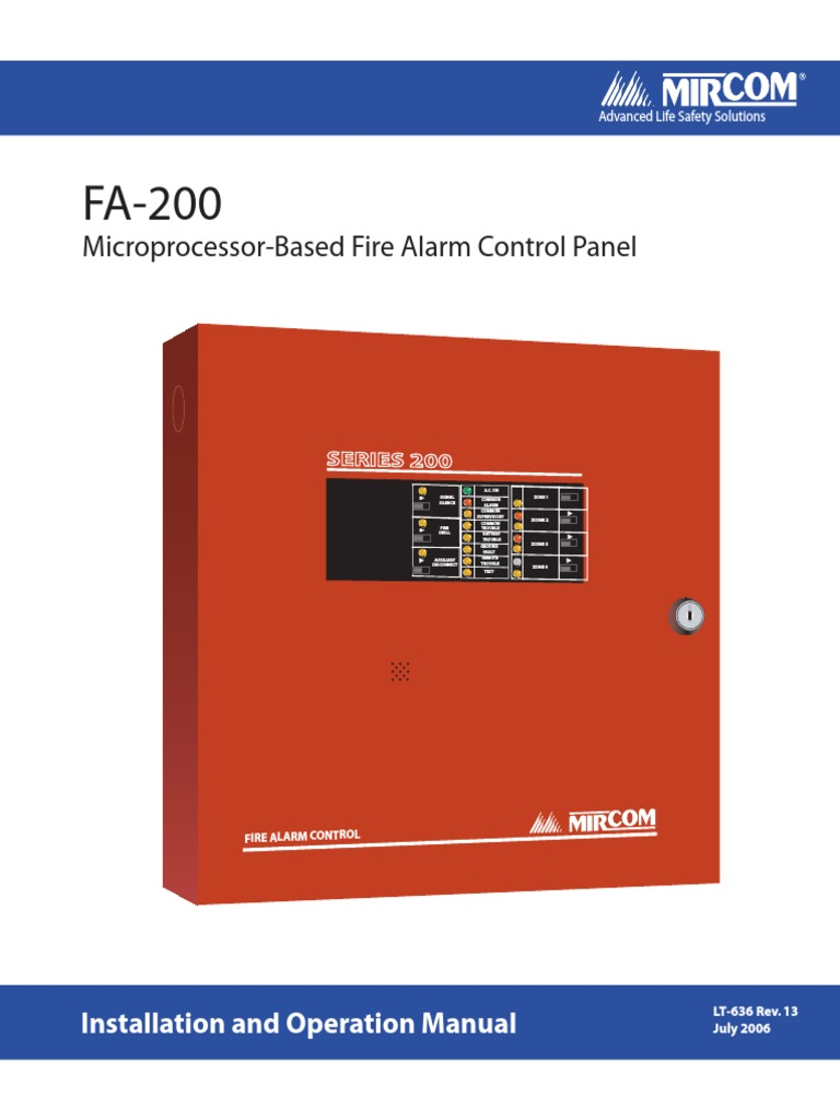 LT-636 FA-200 Installation and Operation Manual1 | Relay | Electrical Wiring