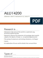 aedt4200 seminar what is research