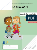 Livret Du Candidat Delf Prim a1 1