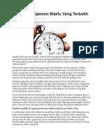 10 Tips Manajemen Waktu Yang Terbukti