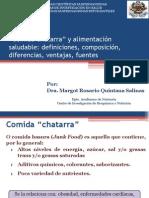 Dra. Margot Comida Chatarra y Alimentos Salud Simposio