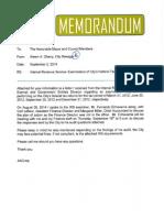 IRS Memo & Letter Sept 2 2014