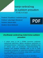 Utvrdjivanjevanbracnogmaterinstva-prezentacija