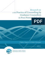 The Practice of Counselling by Guidance Counsellors in Post Primary Schools