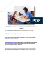 New York Speech Language Pathologists Continuing Education and License Renewals