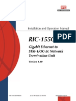 RIC-155GE Installation and Operation Manual