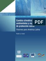Cambio climático, políticas ambientales y regímenes  de protección social