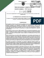 Decreto 3033 Del 27 de Diciembre de 2013