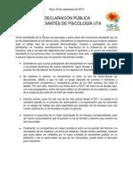 Declaración pública CEC Psicología