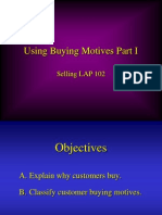 Using Buying Motives Powerpoint