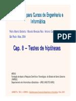 Cap 8 - Testes de Hipóteses