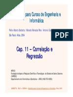 Cap 11 - Correlação e Regressão