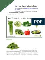 As Siete Frutas y Verduras Más Alcalinas
