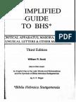 Bibal Press - SCOTT, W.R. - A Simplified Guide to BHS