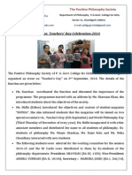 Report on  Teachers' Day Celebration-2014