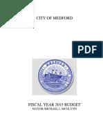 City of Medford FY 2015 Budget