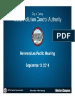 Derby WPCA - Referendum Public Hearing Presentation - Sept 3 2014