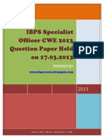 Question Paper Held on 17.03.2013- Www.ibps-NEWS.blogspot.com