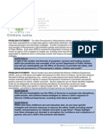 2014 PA Gubenatorial Questionaire - Center for Children's Justice