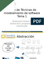 Tecnicas de Modelamiento Tema 2 Abstraccion Estructuración y Modularidad