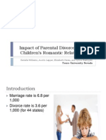 impact of parental divorce on their childrens romantic