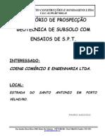 3 - RELATORIO de Sondagem Terreno VOLPI Granito
