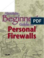 Jerry Lee Ford Jr. Absolute Beginners Guide to Personal Firewalls Absolute Beginners Guide 2001