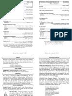 Cedar Bulletin Page - 09-07-14