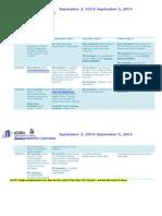 master orientation schedule of assignments   first week of school