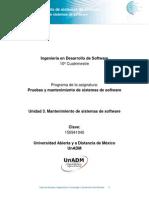 Unidad 3. Mantenimiento de Sistemas de Software