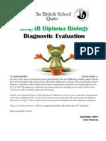 Diagnostic Evaluation September 2014