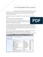 Cómo Hacer Correr Un WindowsServer IIS y No Morir en El